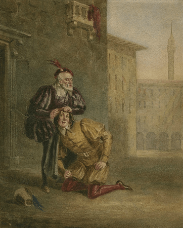 Merchant of Venice, II, 2, Launcelot Gobbo and his blind father