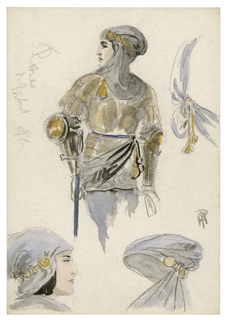 Costume design for unspecified character in Romeo and Juliet