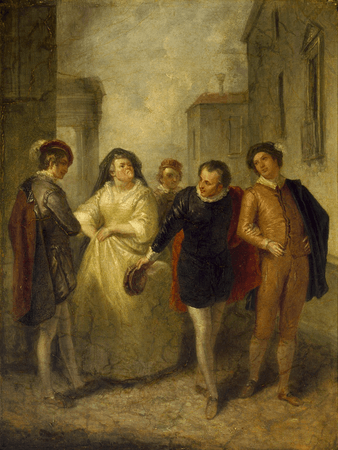Mercutio bidding farewell to Juliet's nurse