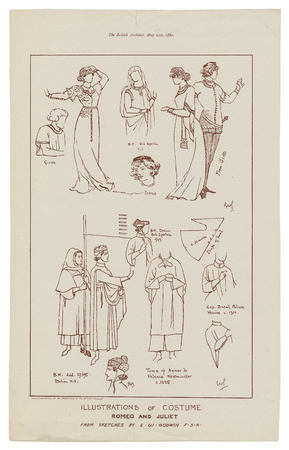 Illustrations of costume, Romeo and Juliet