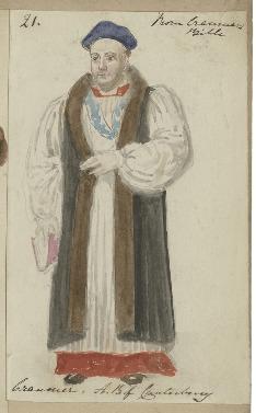 Costume design for Cranmer
