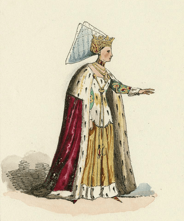 Costume design for Lady Anne