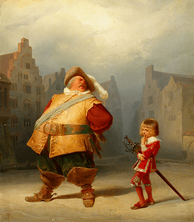 Falstaff and his page