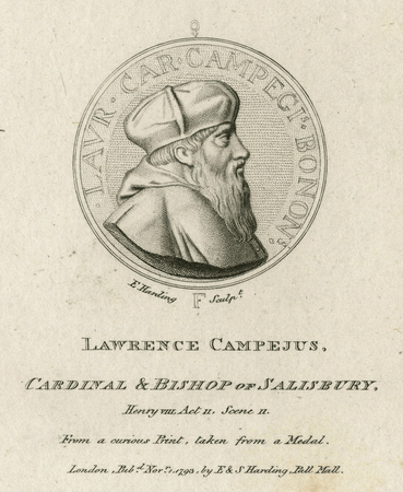 Lawrence Campeius, Cardinal & Bishop of Salisbury
