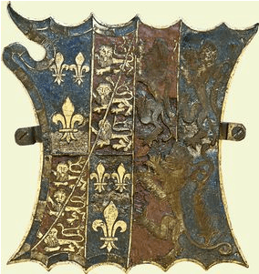 Garter stall plate of Charles Somerset, 1st Earl of Worcester, Lord Chmberlain