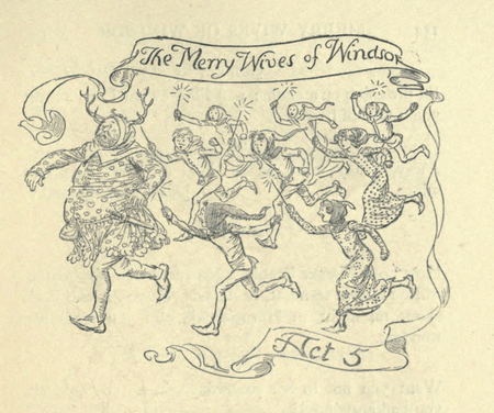 Act header for the James Ballantyne and Co. edition of The Merry Wives of Windsor