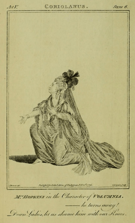 Mrs. Hopkins as Volumnia