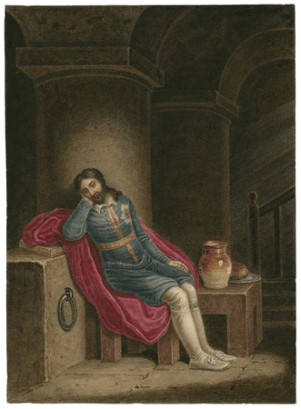 Richard II, Richard in prison at Pomfret Castle [graphic] / [J. Coghlan].