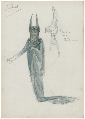 Costume design for the ghost