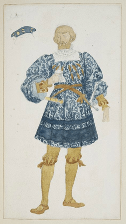 Costume design for the king