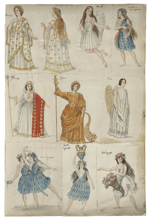 Costume designs for The Tempest